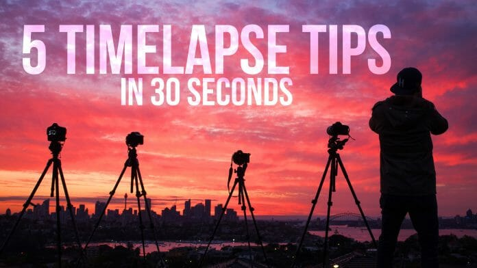 top 5 timelapse tips