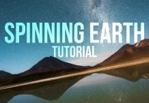 Spinning earth effect tutorial cover