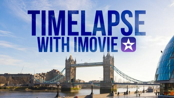 How to make a timelapse with iMovie